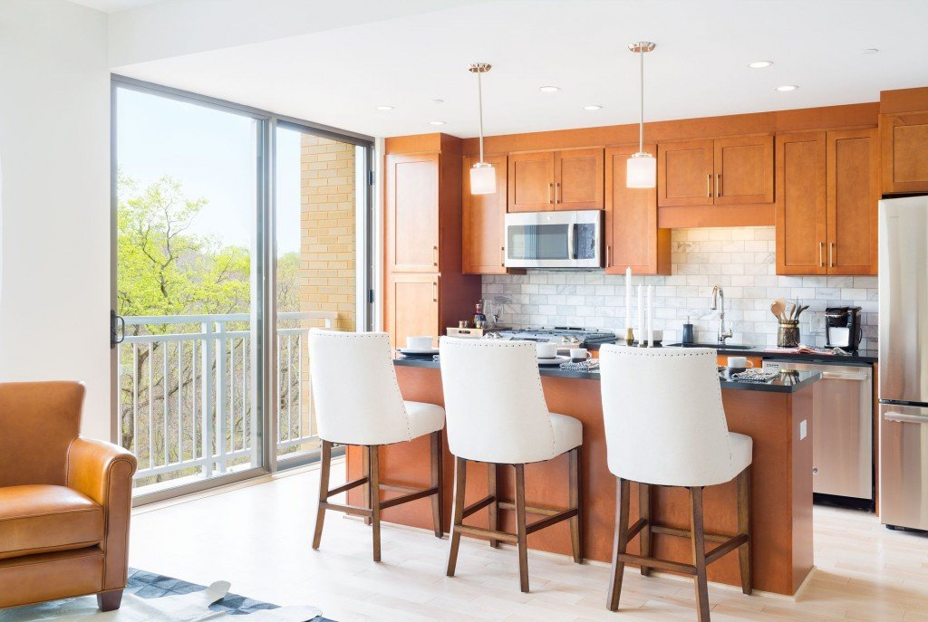 Kitchen View in Park Van Ness Luxury Apartments In Washington DC