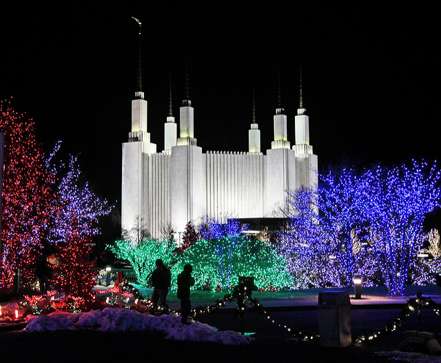 Christmas at the Mormon Temple
